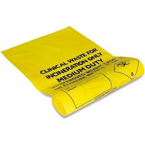 Plastic Printed Clinical Waste Bag