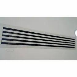 Coated Air-conditioning Aluminium Slot Diffuser, Shape: Rectangle