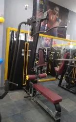 Lat Pull Down Seated Row Machine