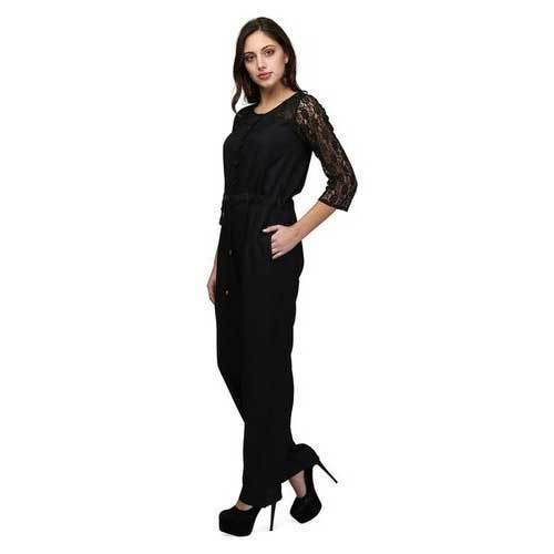 098d499c976 Polyester Full Length Women Black Jumpsuit