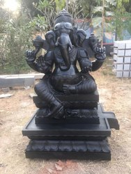 Divine black stone statues
