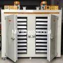 350 Deg Celsius Mild Steel Tray Type Drying Oven, Capacity: 100-500 Kg