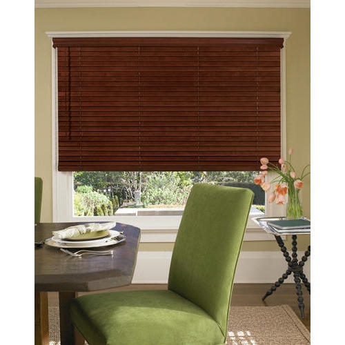 Country Woods Brown Dining Room Cordless Blind