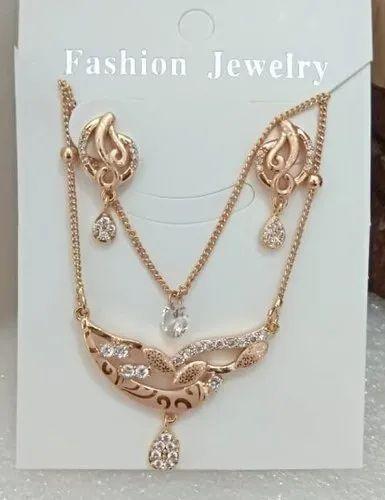 Rose Gold Pendant With Chain Set At Rs 220 Unit Laskana Surat Id 21716757330