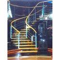 Half Turn Stainless Steel Stairs