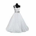 S / M / L/ Xl And Xxl Ladies Single Shoulder Wedding Gowns
