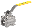1/2 3PC Manually Ball Valve with ISO Pad (SS 316)