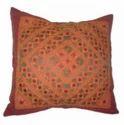 Culbuli Thread And Mirror Work Cushion Cover