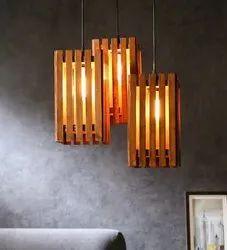 Elegant Wooden Hanging Light