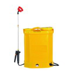 Yellow Plastic Battery Sprayer Pump for Sanitizer, Capacity: 16 liters