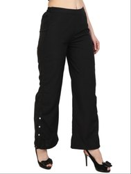 Black Ankle Length Palazzo Pants