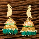 Gold Plating Indo Western Jhumki Earring With Gold Plating 100276