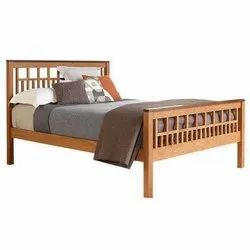 Mayil Furnitures Modern Teak Wood Single Bed, Features: Termite Proof, Size: 91 X 190 Cm