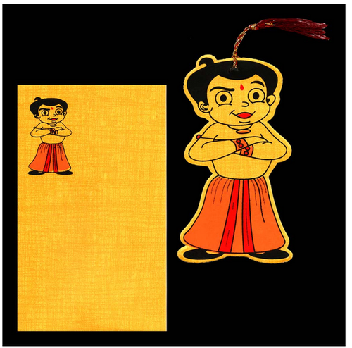 Very Elegant Chota Bheem Birthday Invitation Card