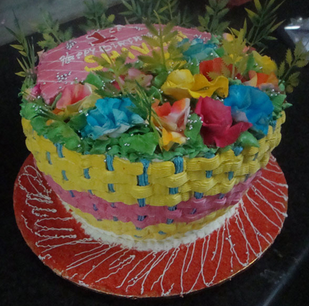 Product Image Read More Beautiful Flower Bouquet Model Cream Cake