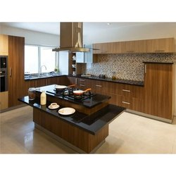 Parallel Shape Island Modular Kitchen, Warranty: 5 Years