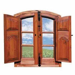 Brown Wood Windows
