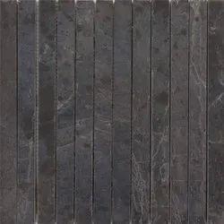 Capstona Stone Mosaics 3 Stripe Bhatti Black Tiles