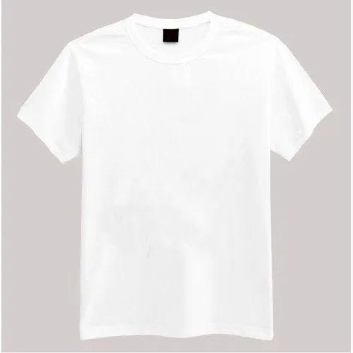 man wearing plain white t shirt
