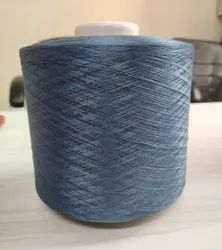 Twisted Gray Polyester Yarn, For Textile Industry, Count: 150 Danier