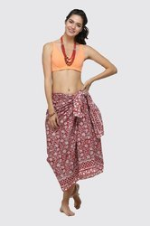 Indian Women indigo blue  Floral Design Summer Sarong New Women Bathing pario