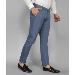 Cotton Chinos Mens Blue Slim Fit Trouser, Size: 28-36