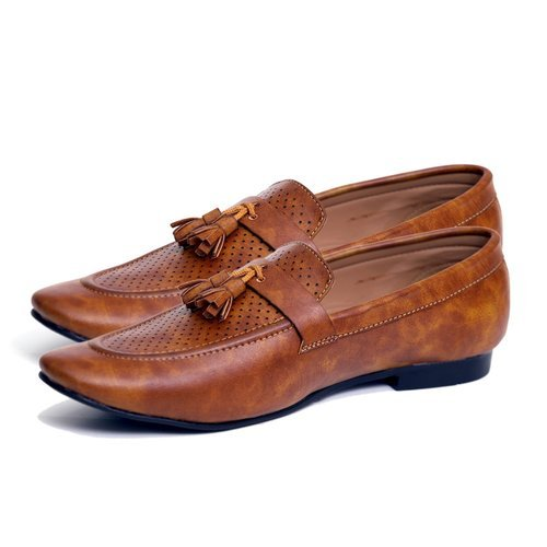 d5f85635ab384 Black And Brown Men Semi Knotted Tassel Office Causal Synthetic Leather Loafer  Shoes With Tpr Sole