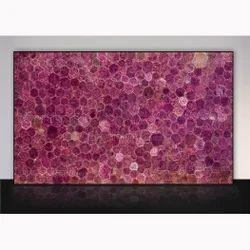 Pink Corundum Gemstone Slab