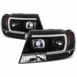iron and plastic Auto Electrical Part Headlights
