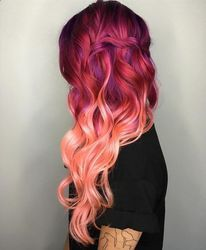 Wavy Coloured Hair