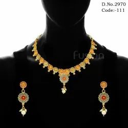 Meenakari Antique Necklace Set