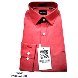 Park Avenue Collar Neck Mens Cotton Formal Shirt, Size: 38 to 44