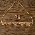 Antique Choker Necklace With Gold Plated 203271