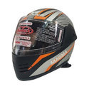 Metallic Grey Full Face Magma Bluetooth Smart Motorcycle Driving Helmet, Packaging Type: Box