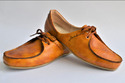 Leather Flame Loafer Orange Shoes