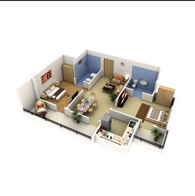 2 Bhk Smart Home Plan Security