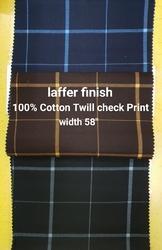 Cotton Twill Check (Laffer Finish)