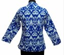 Ikat Printed Cotton Quilted Jacket