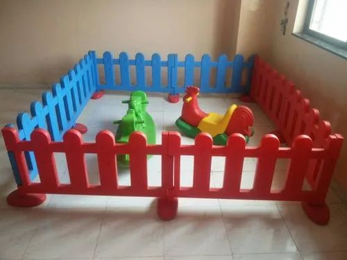Orangeslates Multicolor Kids Playschool Play Junction Cum Fence Set Of 8 Pcs
