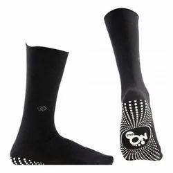Pedder Johnson Gents Full Length Black  Nofall Socks