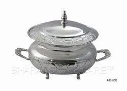 Pure Silver Nakshi Serving Dish