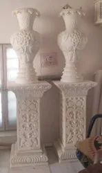 Marble pot with stand