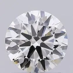 1.56ct Lab Grown Diamond CVD K VS2 Round Brilliant Cut HRD Certified Stone