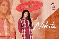 Nikita -SS Handloom Cotton And Koti Pattern Girl for Kurtis