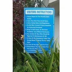 Acrylic Wet Floor Instruction Sign Board, Shape: Vertical
