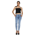 Zadine Half Torn Women Jeans