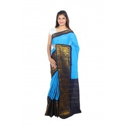 Casual Wear Digital Print 100''s Full Bathic Cotton Saree, With Blouse Piece, 5.5 m (separate blouse piece)