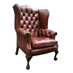 Magron Leather Wing Chair
