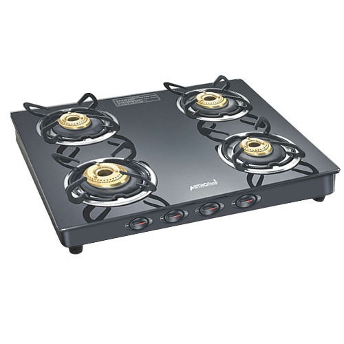Astroflame Black Four Burner Gas Stove
