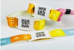 QR Coded Chip Fabric Wristband